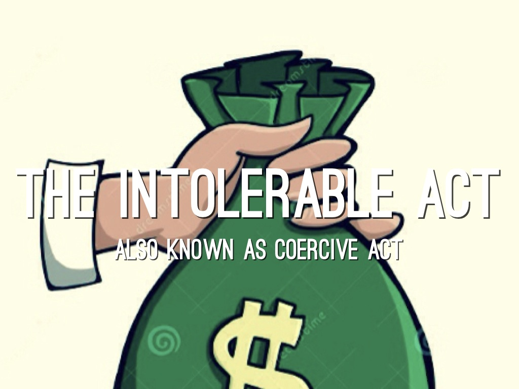 By jonny castro slide. Intolerable acts clipart