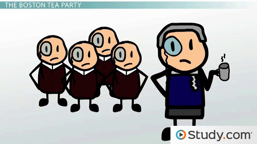 Intolerable acts clipart. The boston tea party