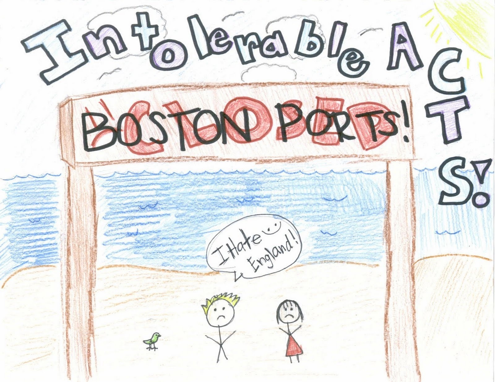 The intorable age of. Intolerable acts clipart