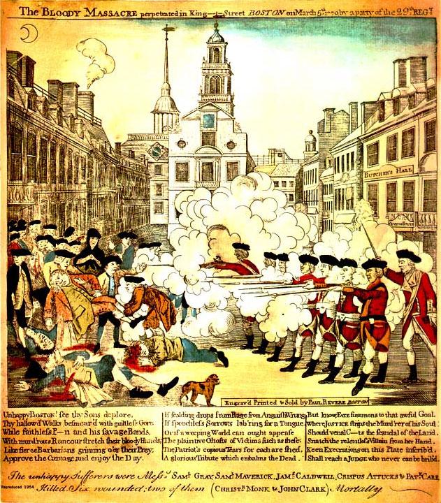 Intolerable acts clipart boston massacre. Index