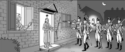 Intolerable acts clipart colonization. The colonist s fight