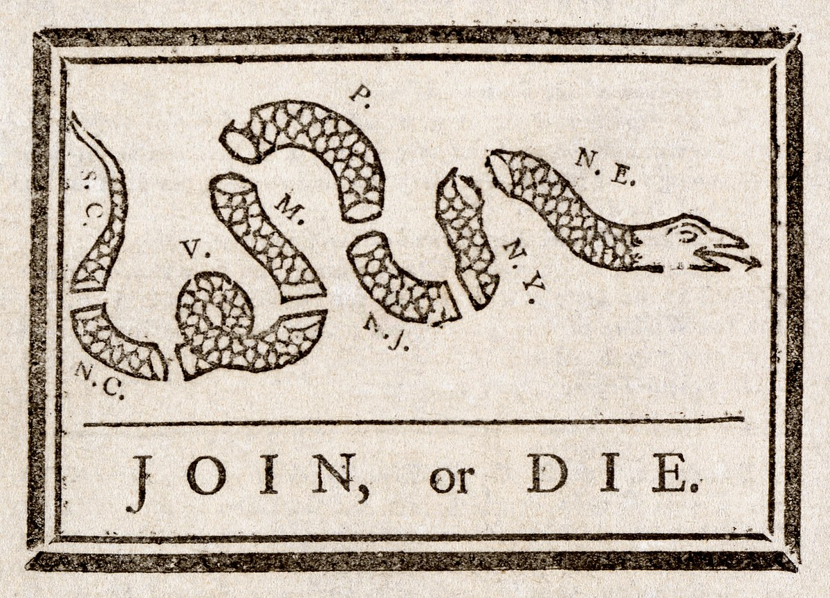 Intolerable acts clipart constitution. Join or die wikipedia