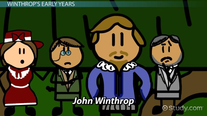Governor john winthrop biography. Intolerable acts clipart early settler