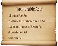 best images in. Intolerable acts clipart four