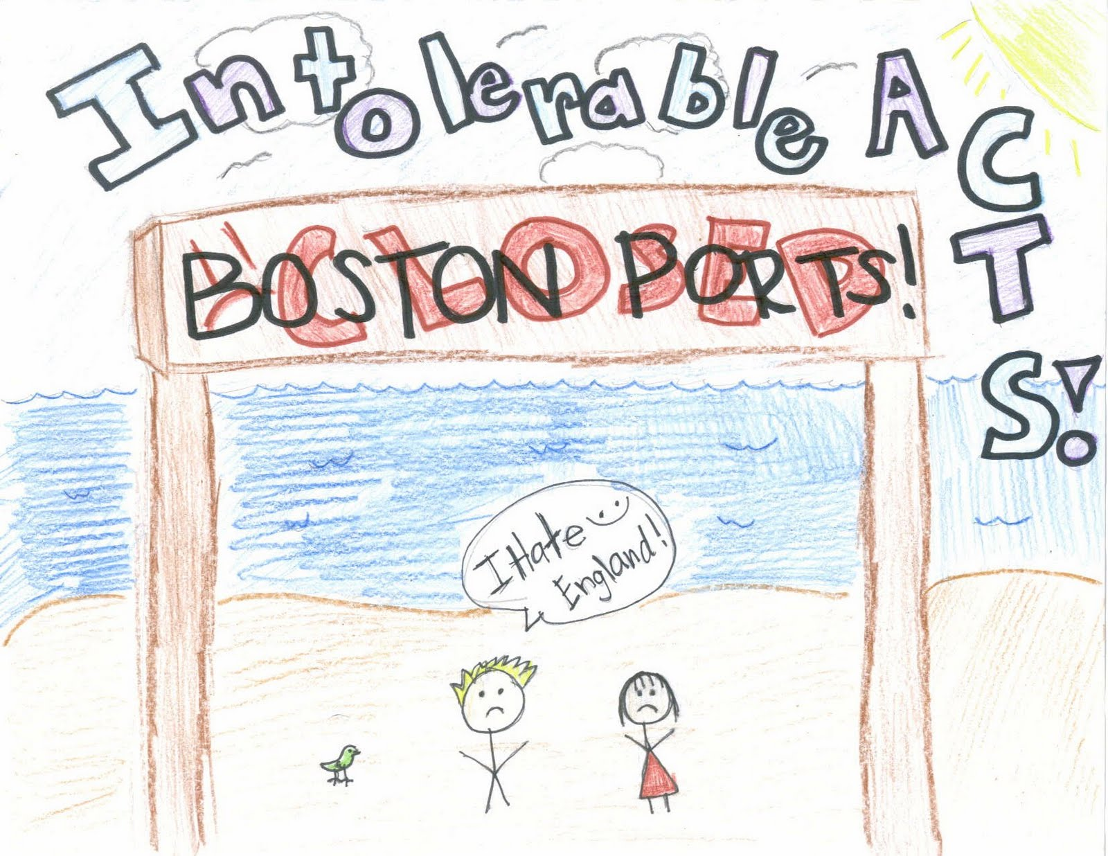The fabulous american revolution. Intolerable acts clipart intollerable