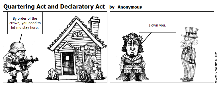 Intolerable acts clipart law. The quartering act