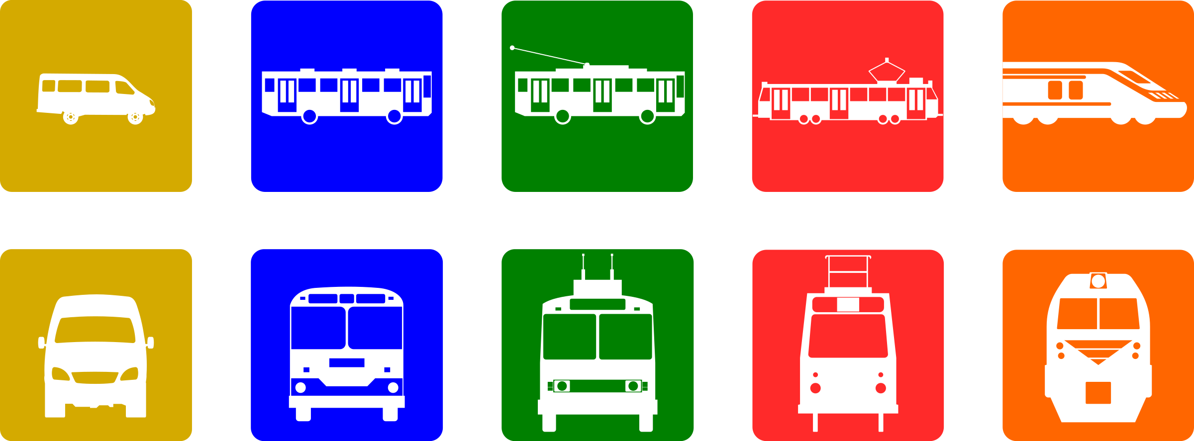 collection of use. Transportation clipart urban transport