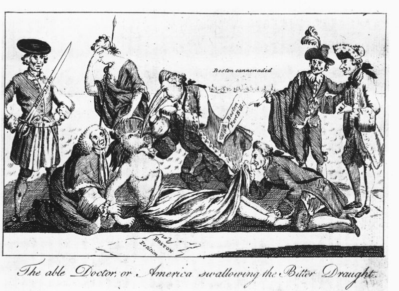 What were the of. Intolerable acts clipart quartering act