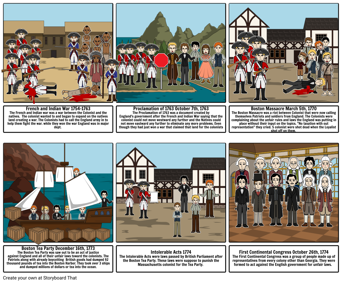 Road to revolution storyboard. Intolerable acts clipart rule law