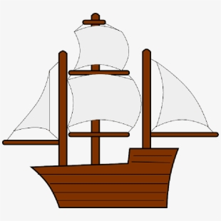 Ship thanksgiving no background. Mayflower clipart water