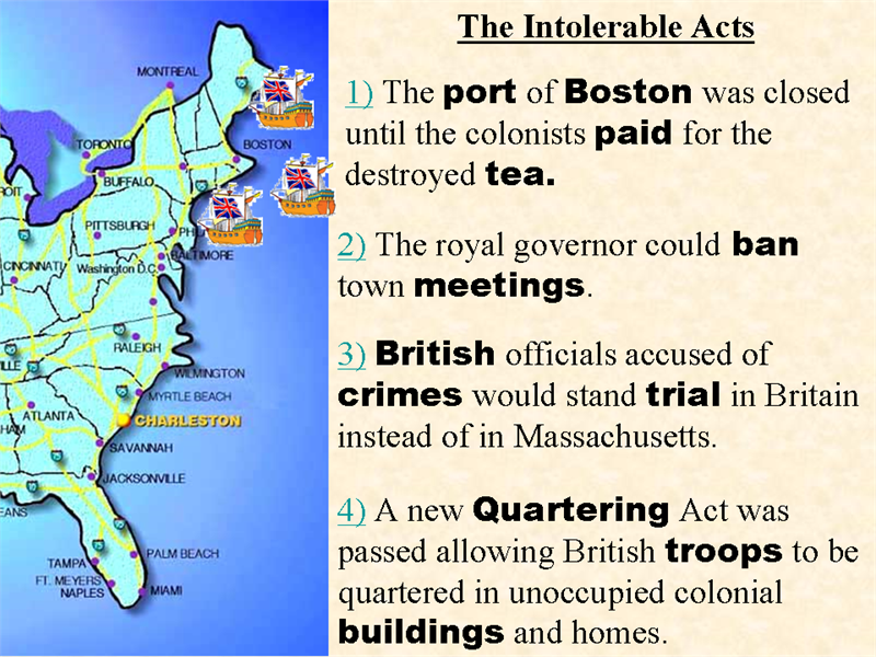 Intolerable acts clipart tea british. Gsta u s history