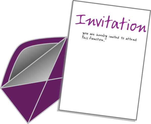 Invite card clip art. Invitation clipart
