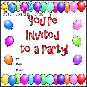 Invitation clipart. Clip art illustration of