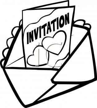 Black and white myefforts. Invitation clipart