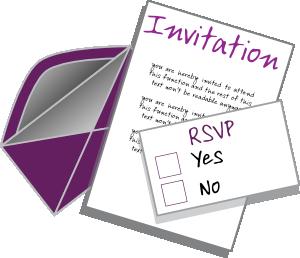 Clip art at clker. Invitation clipart