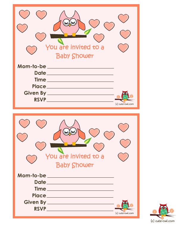 Invitation clipart baby shower.  free printable owl
