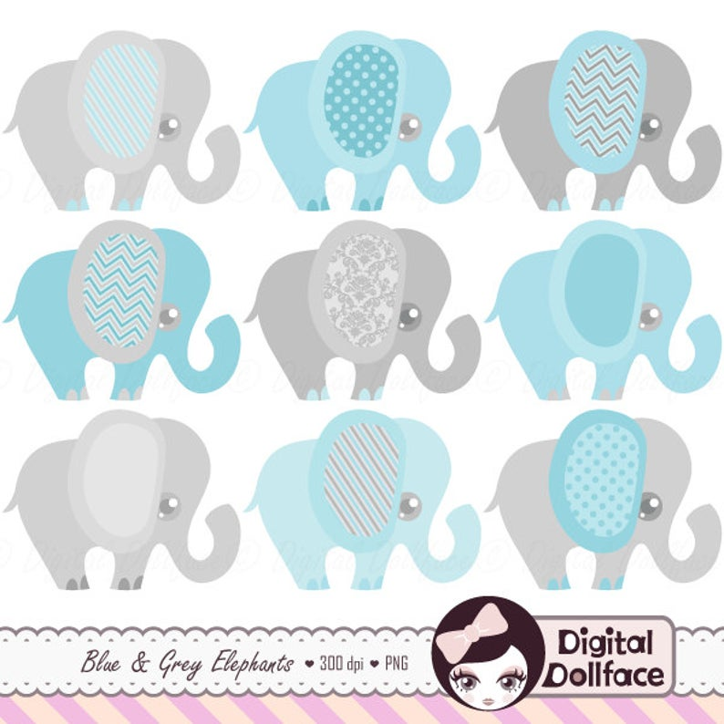 Invitation clipart baby shower. Blue elephant boy clip