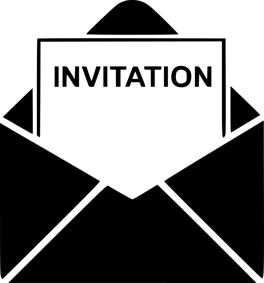 Invitation clipart bulletin. Svg png icon free