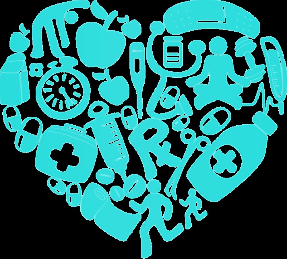 First aid heart color. Invitation clipart colour