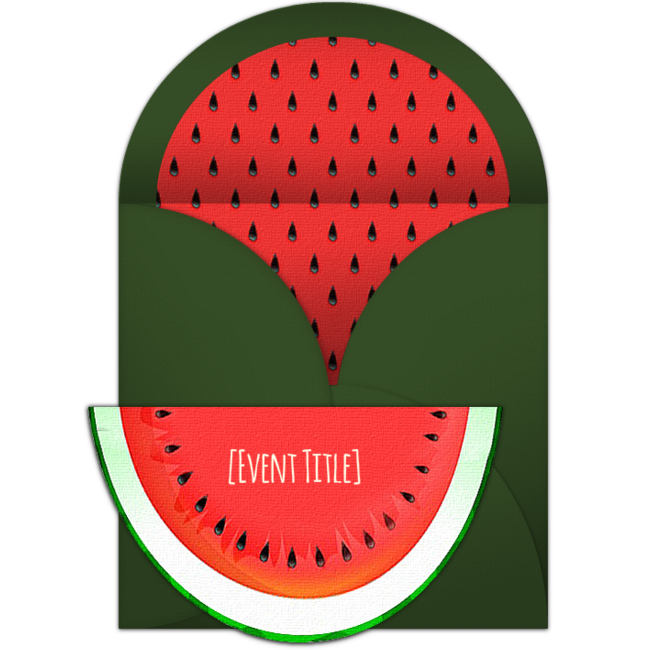 Watermelon clipart party. Free whimsical invitations and