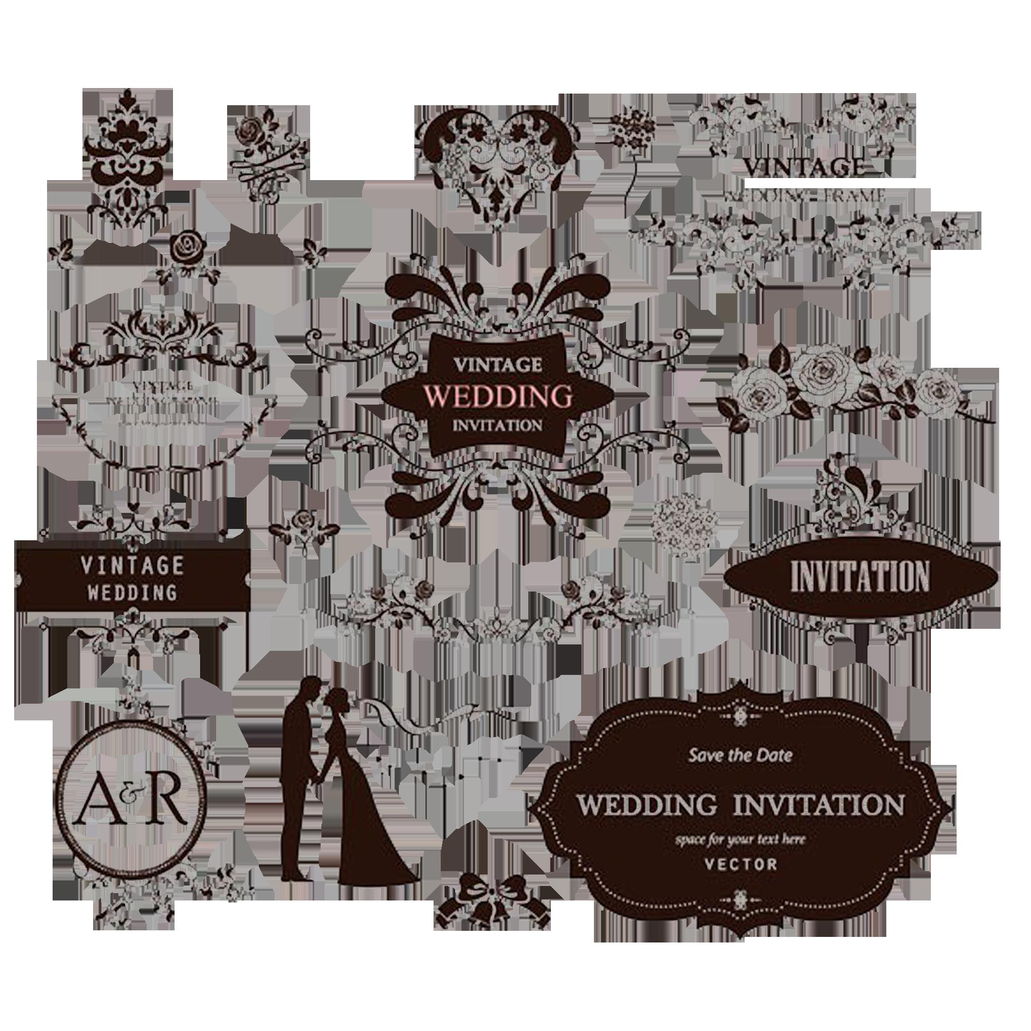 Label clipart wedding invitation. Ornament decorative arts european