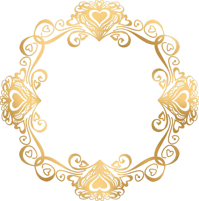 Wedding gold picture european. Invitation frame png