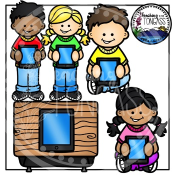 Kids by teaching in. Ipad clipart