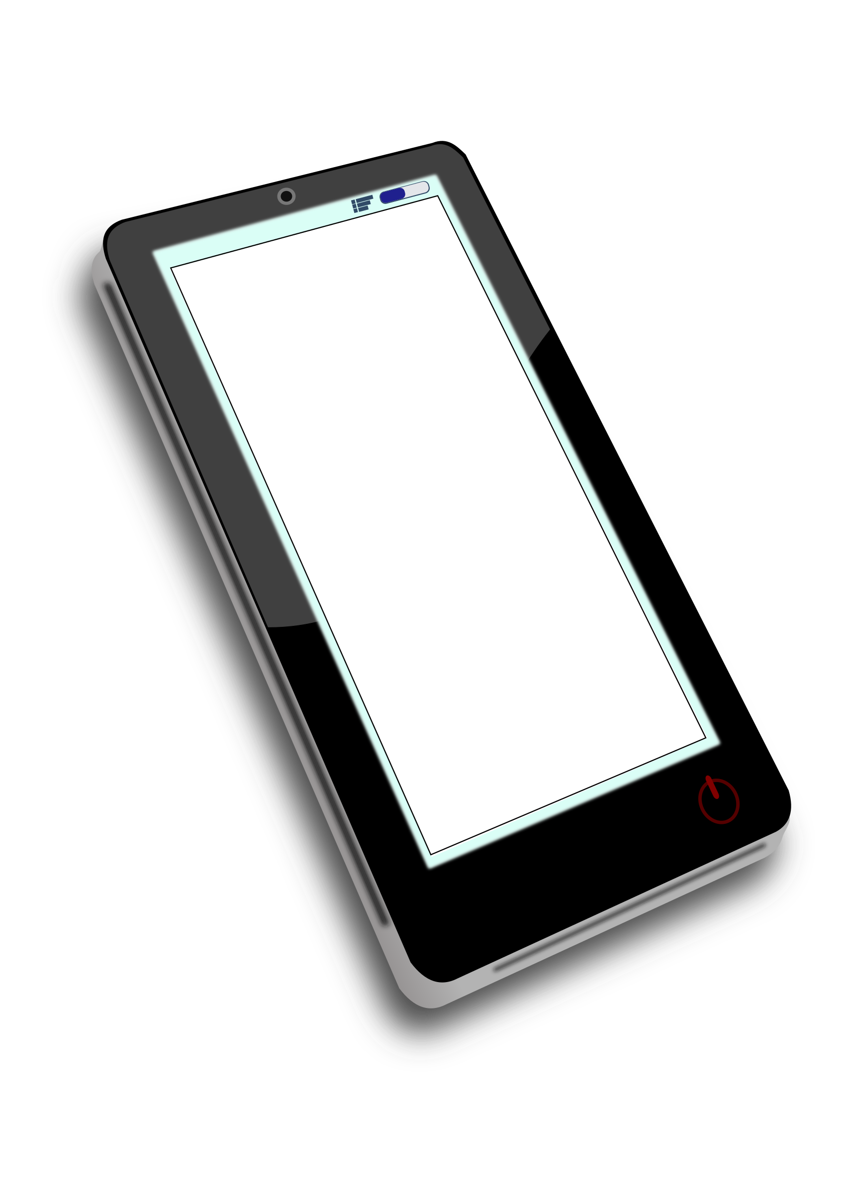 Openclipart on tablet pc. Phone clipart simple