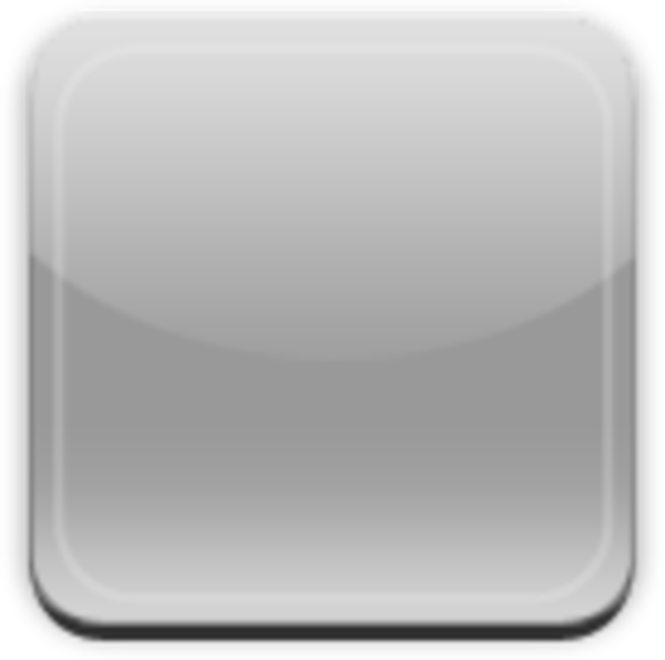 Iphone clipart app. Glass button gray free