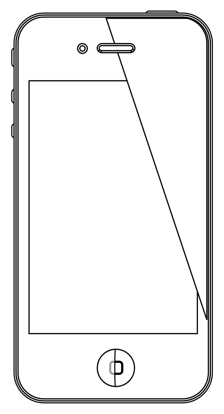 Page colouring sheet color. Iphone clipart coloring book