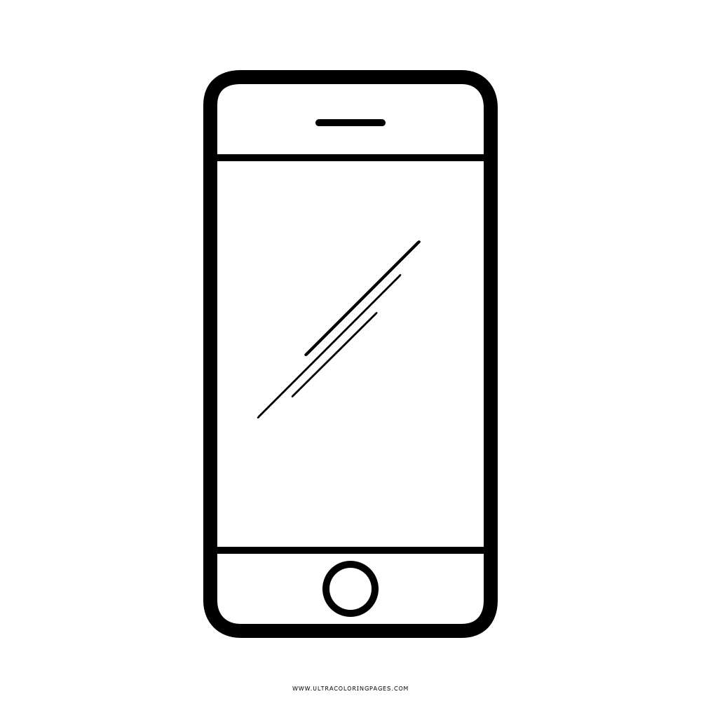 Iphone coloring page. Clipart colouring transparent free