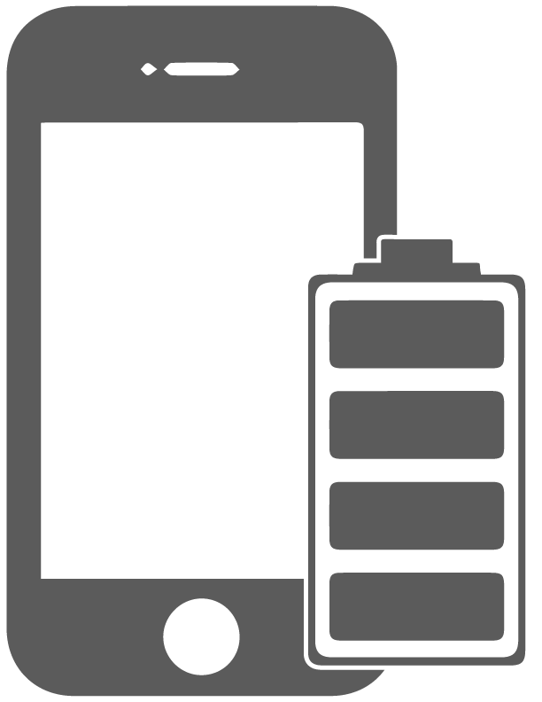 Airdrie battery replacement services. White clipart ipad