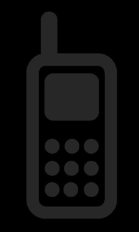 Retro clipart cell phone. Free stock stockio com