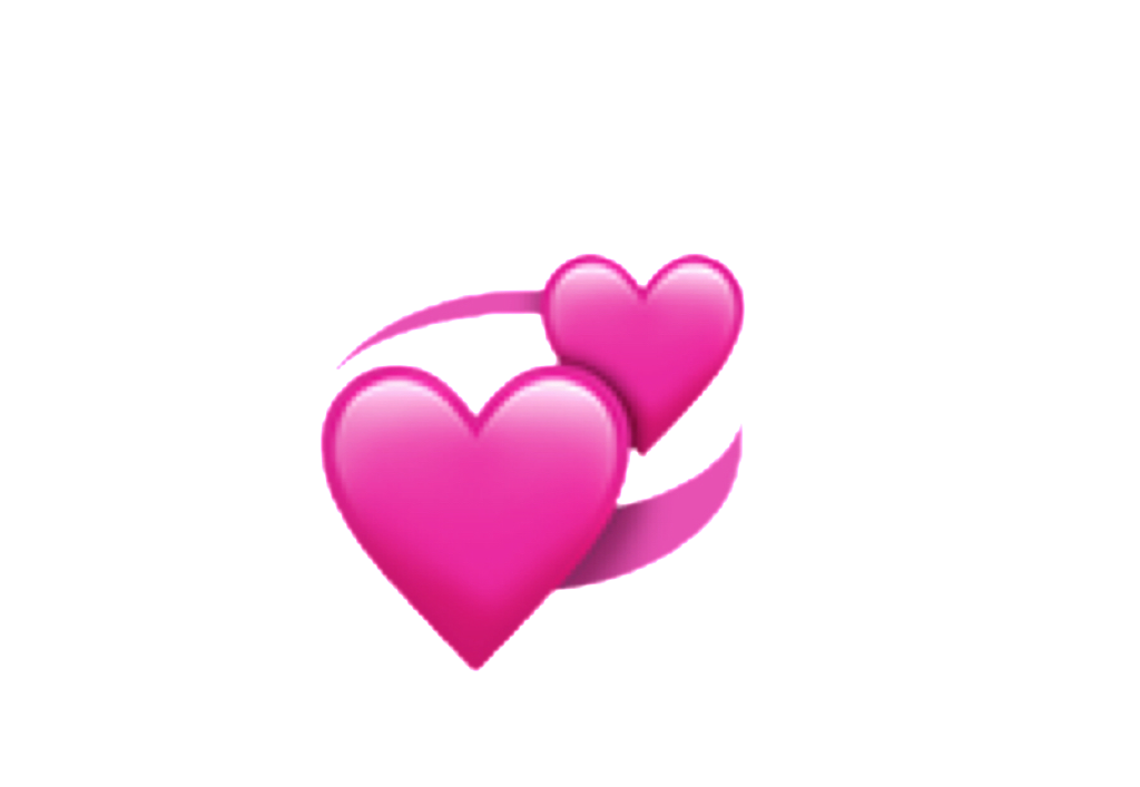 Ios iphone heart spin. Emoji hearts png