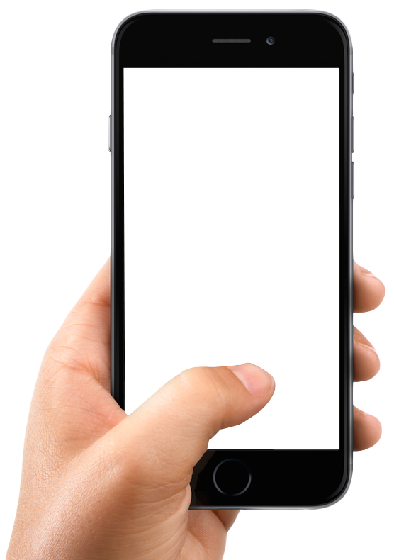 Iphone clipart smartphone. Hand holding mobile png