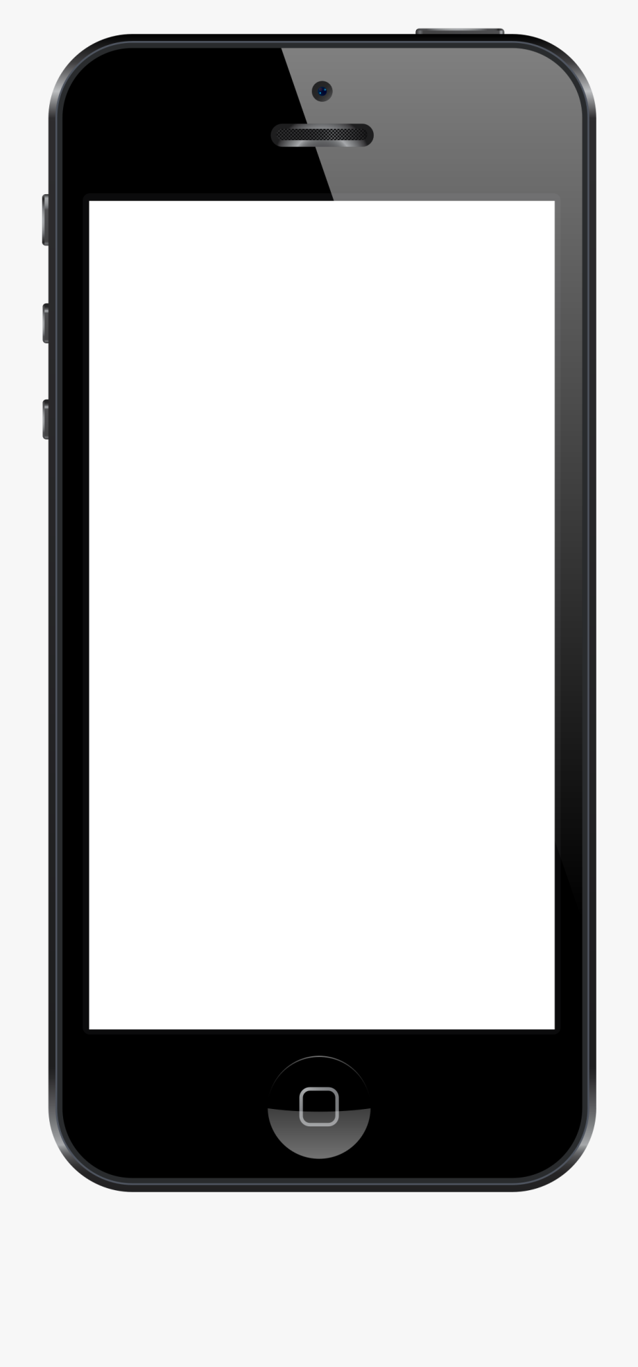 Blank phone png transparent. Iphone clipart smartphone