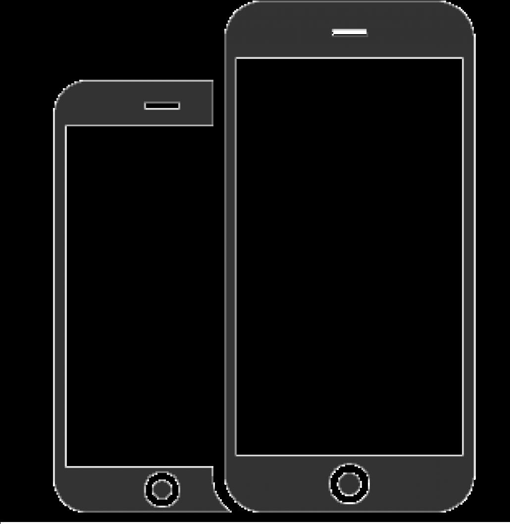 Iphone clipart smartphone. Apple outline clip art