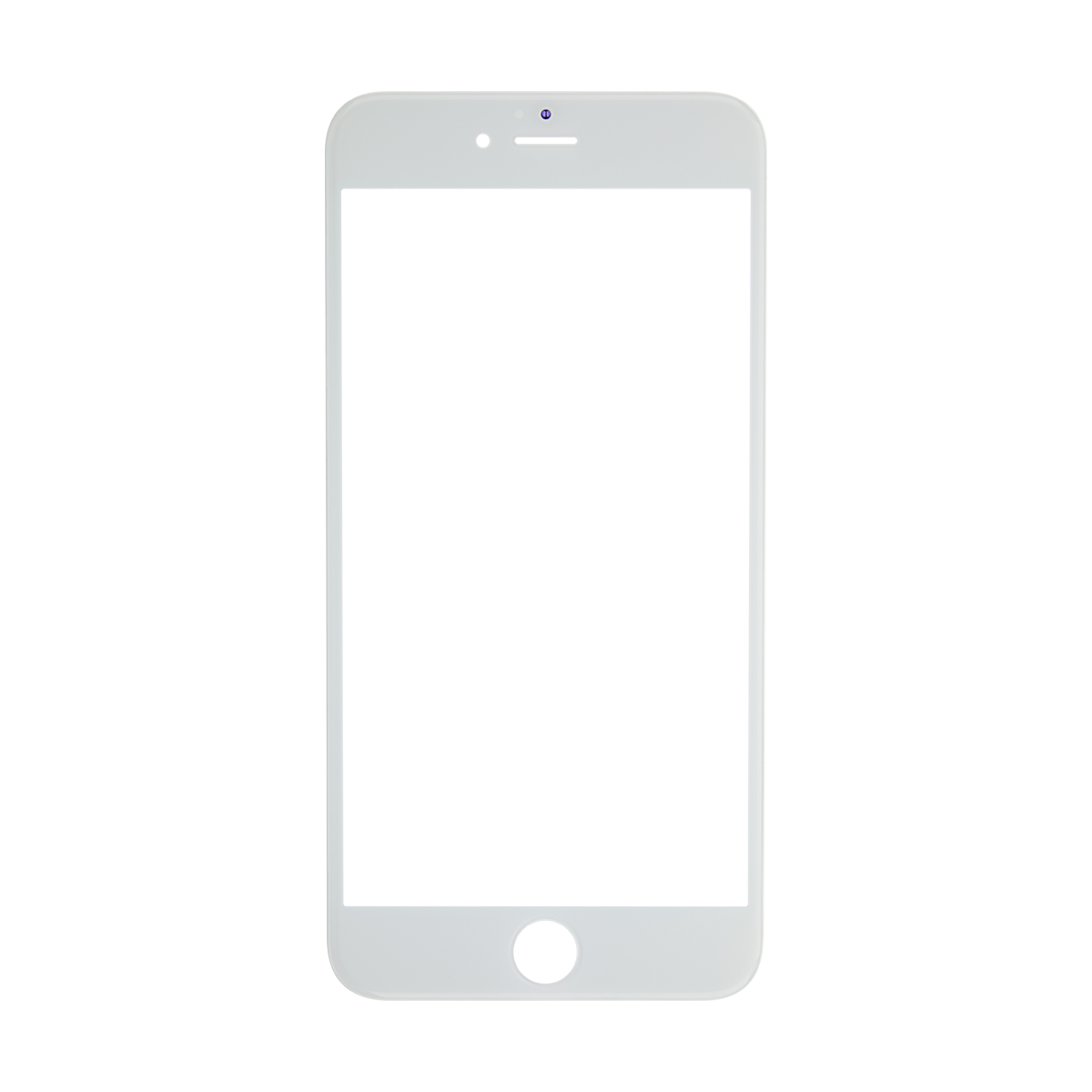 S plus white glass. Iphone frame png