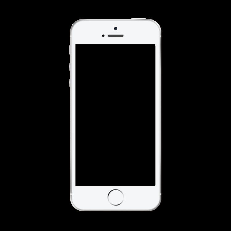 Iphone frame png. Se silver mock up