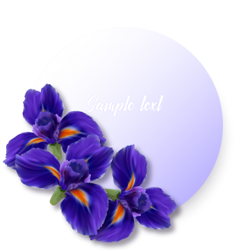 Iris flower png. Vectors psd and clipart