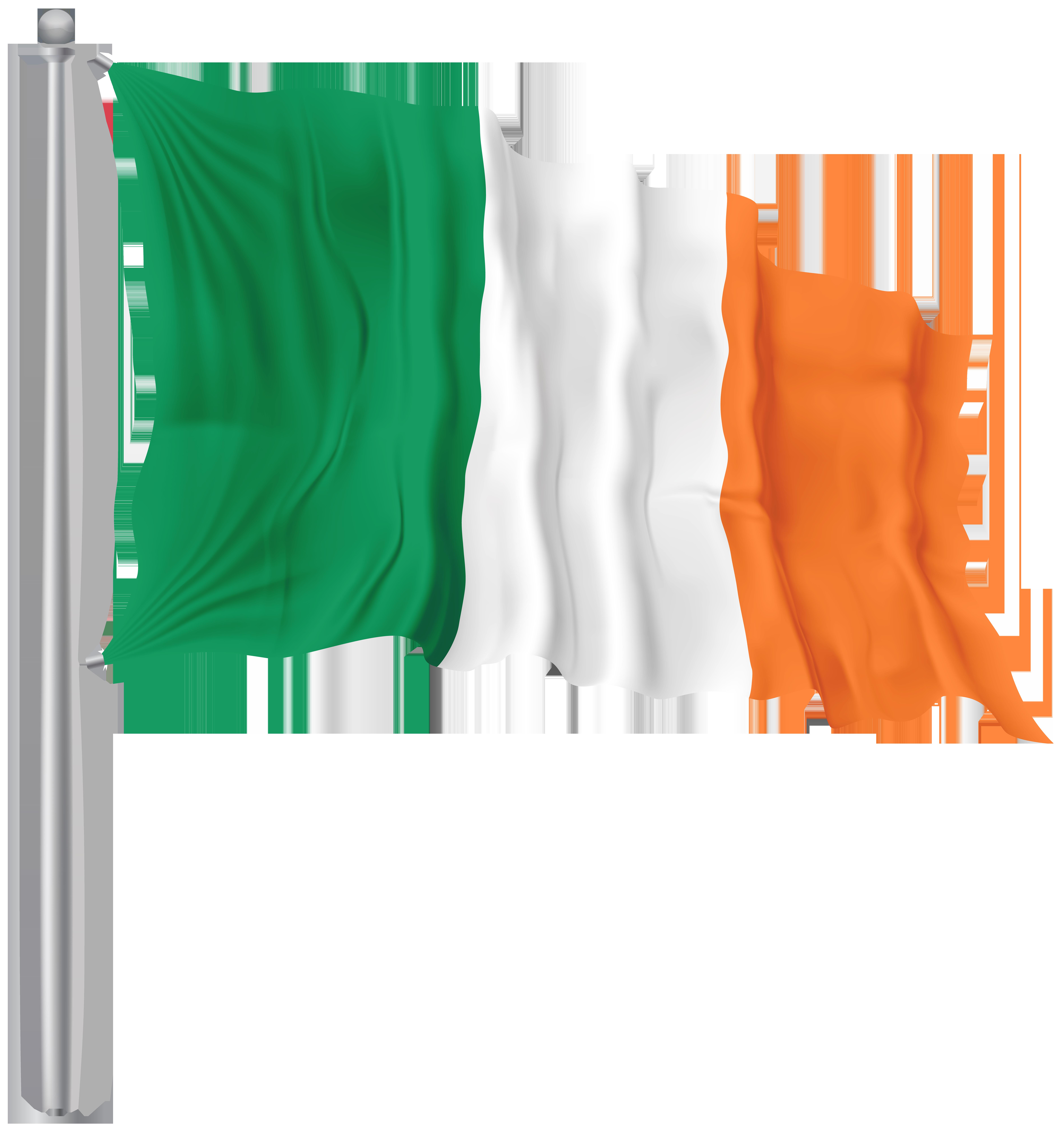 Irish clipart flag. Ireland waving png image