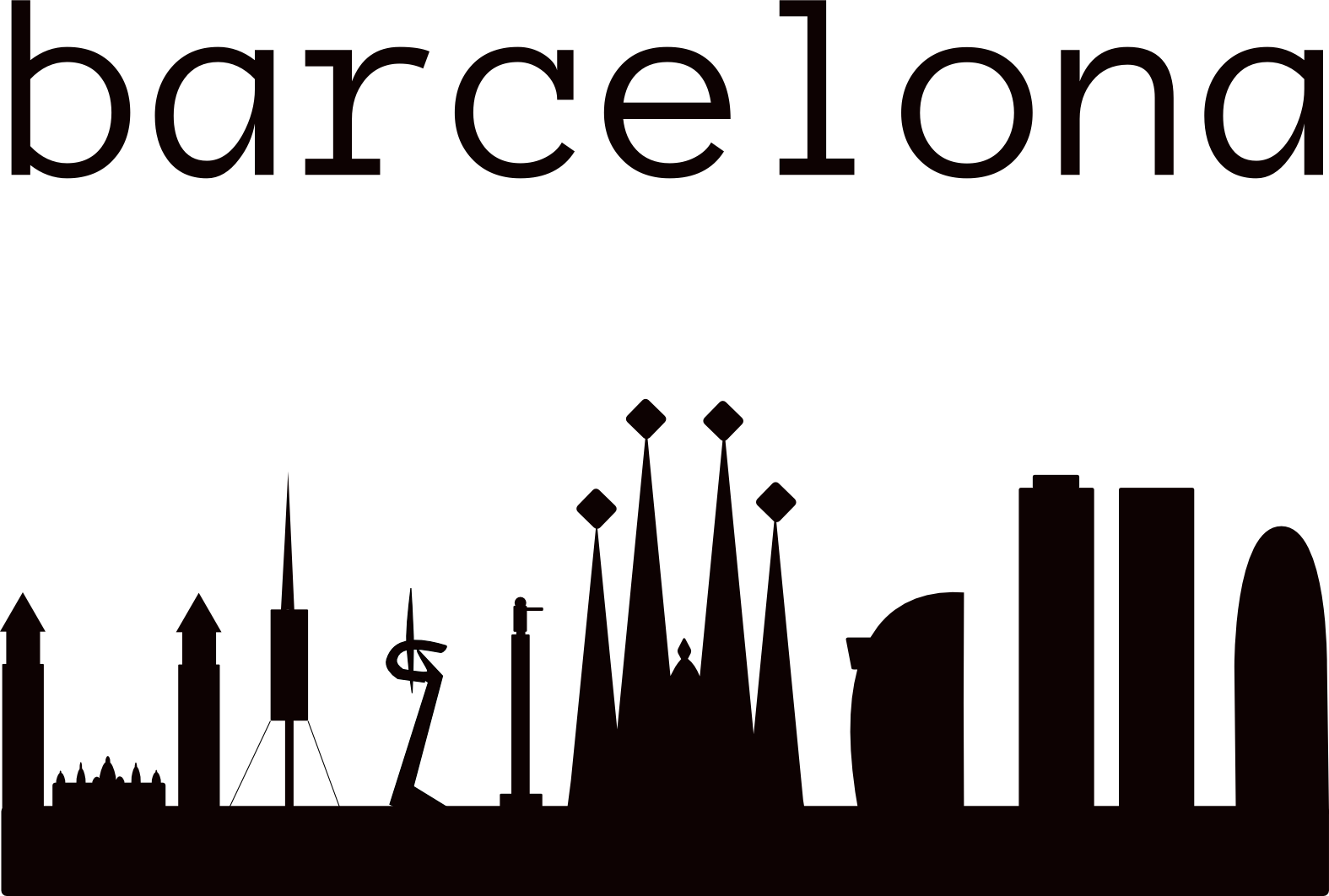 Irish clipart landmarks. Barcelona skyline inspired by