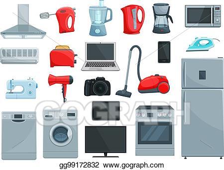 Iron clipart electronic machine. Vector art home appliances