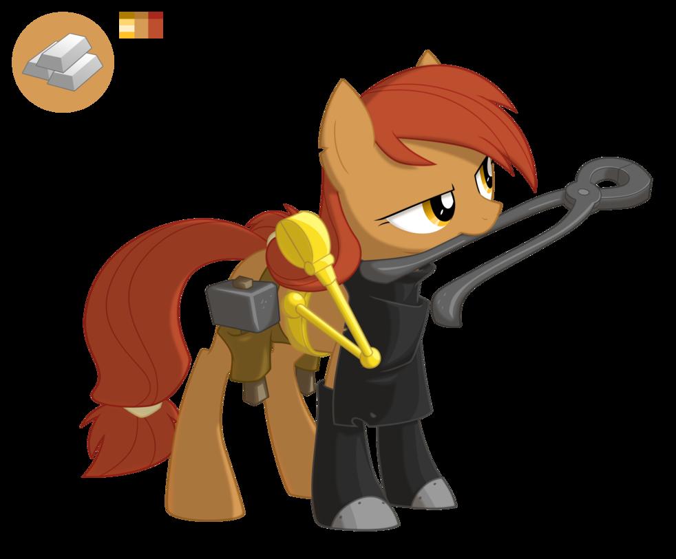 Iron clipart iron ingot. Silver bit by equestria