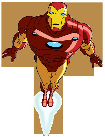 Ironman clipart. Iron man fly