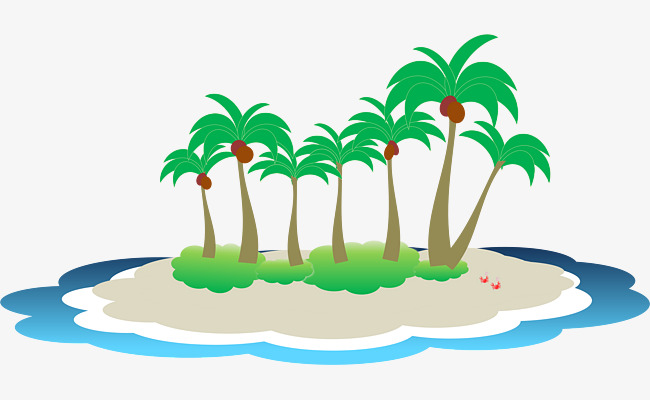 Island clipart. Tropical islands plant png