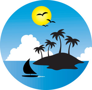 Island clipart. Tropical panda free images