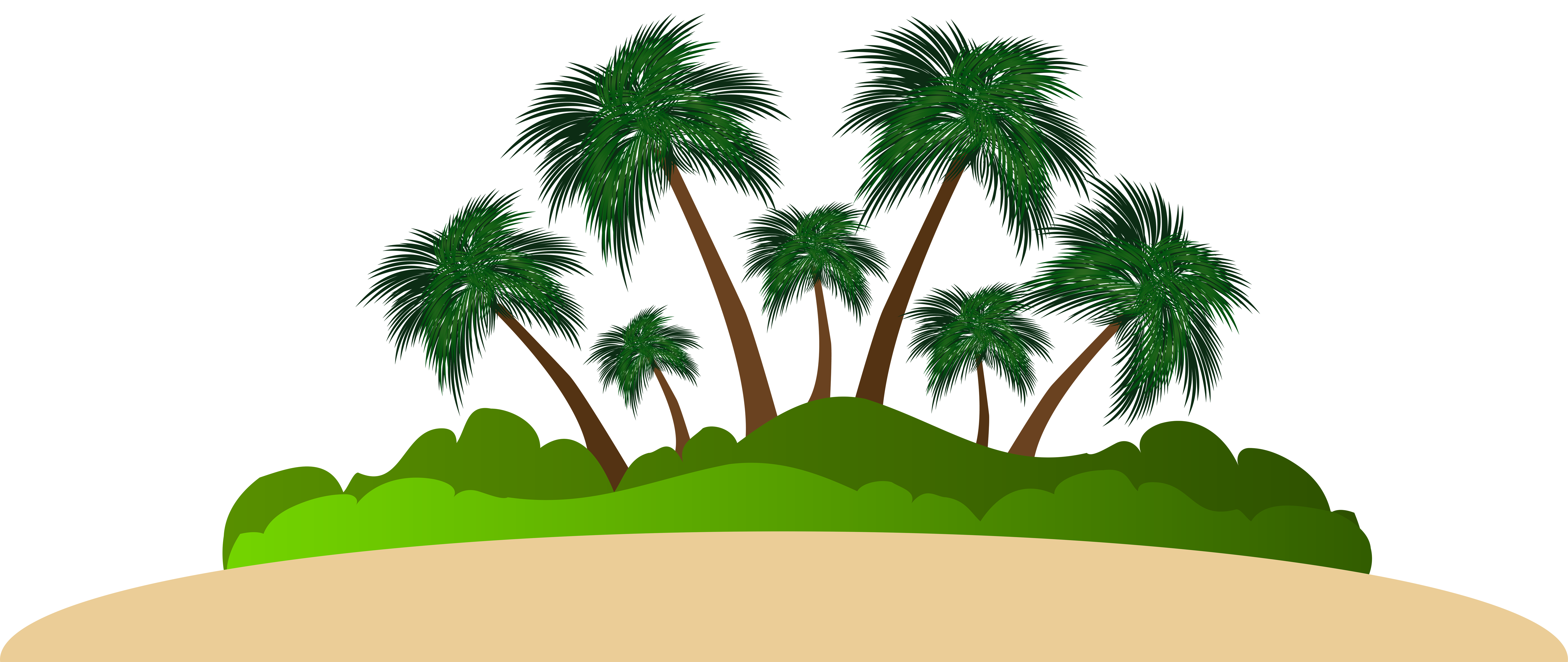 Island clipart. Palm png clip art