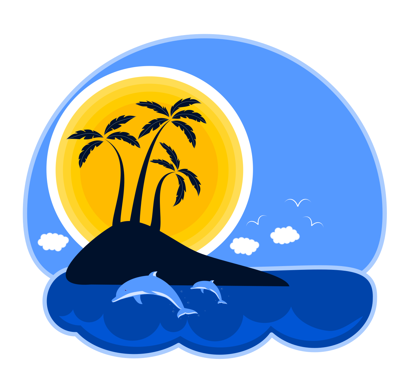 Island clipart. Tropical at getdrawings com