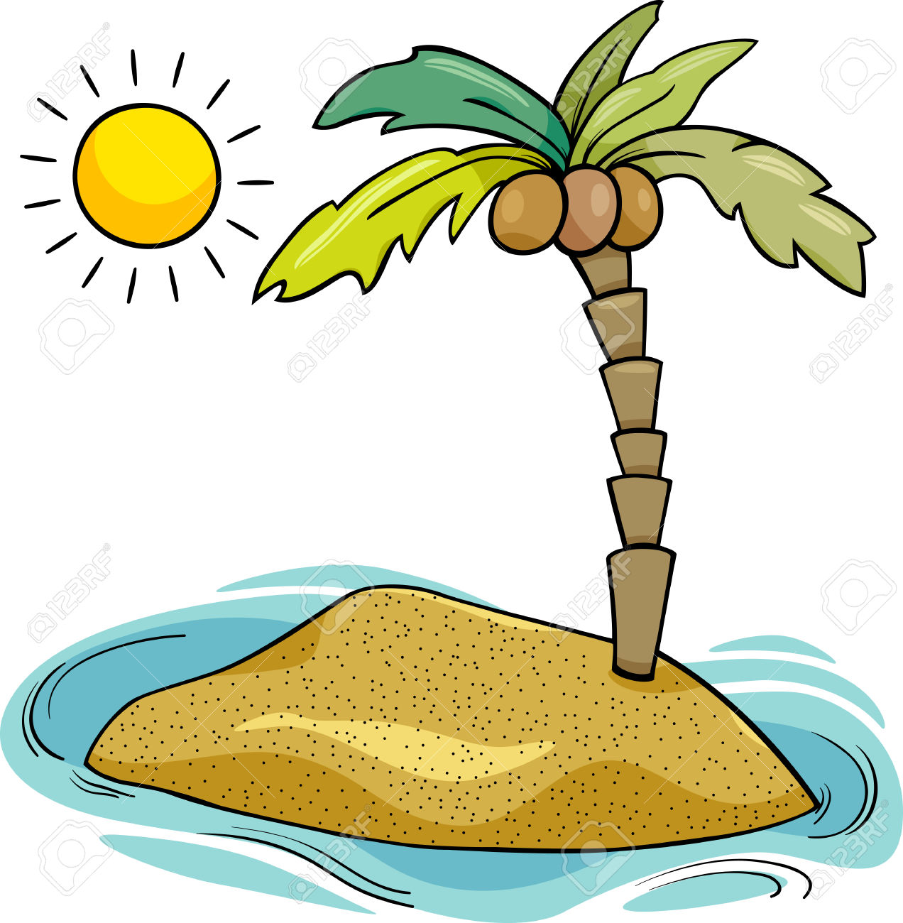 Free download best on. Island clipart desserted